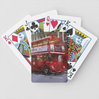 Red Trafalgar Square London Double-decker Bus Bicycle Playing Cards