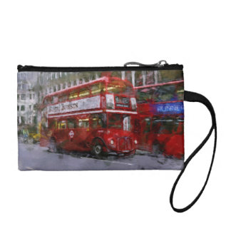 Red Trafalgar Square London Double-decker Bus Coin Wallet