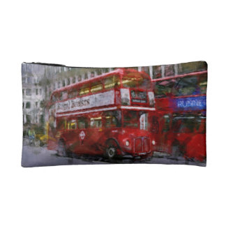 Red Trafalgar Square London Double-decker Bus Cosmetic Bag
