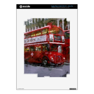 Red Trafalgar Square London Double-decker Bus Decal For iPad 3