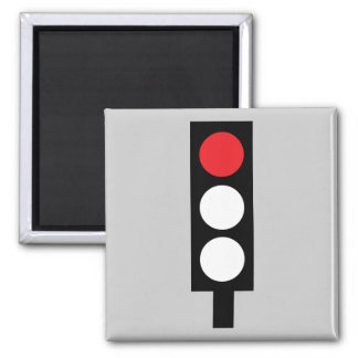 Red traffic light magnet