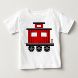 Red Train Caboose Baby T-Shirt