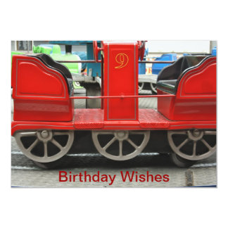 Red Train Carriage Birthday Wishes Card