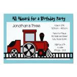 Red Train Engine Birthday Party Invites