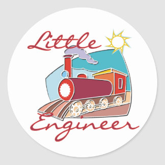 Red Train Little Engineer Tshirts and Gifts Classic Round Sticker