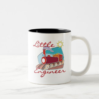 Red Train Little Engineer Tshirts and Gifts Two-Tone Coffee Mug