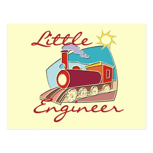 Red Train Little Engineer Tshirts and Gifts Post Cards