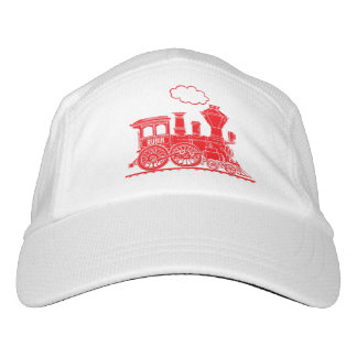 Red train personalized hat headsweats hat