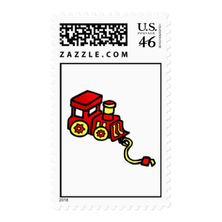 red train stamps
