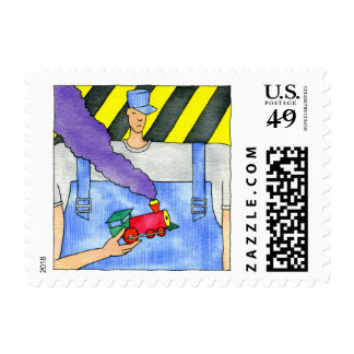 Red Train Postage