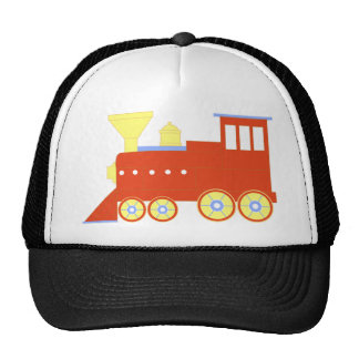 Red Train Trucker Hat