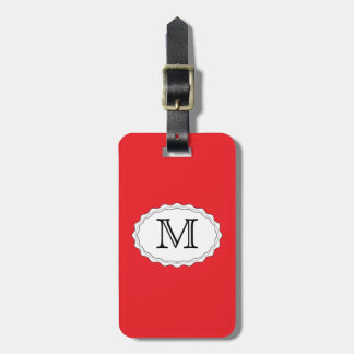 Red Travel Bag Tag Template