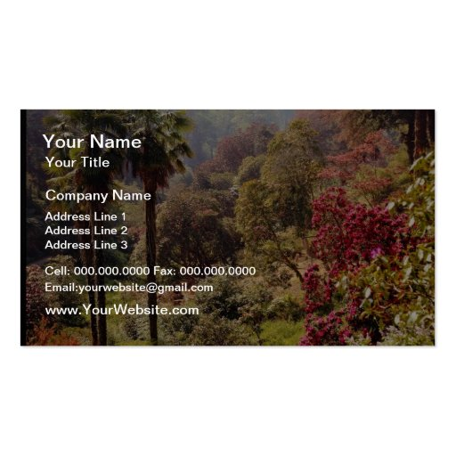 Red Trebath gardens at Mawnan Smith, Cornwall, Eng Double-Sided Standard Business Cards (Pack Of 100)