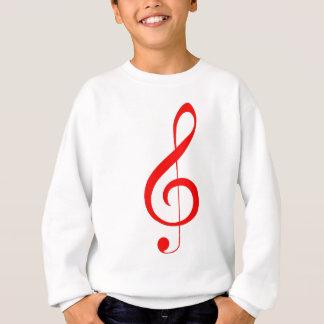 Red Treble Clef Sweatshirt