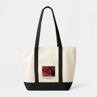 Red Tree Autumn Quote Bag