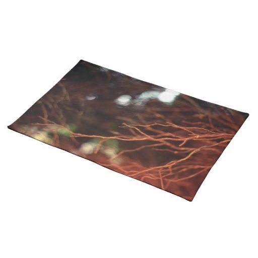 Red Tree Branch Cloth Place Mat