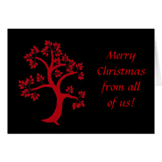 Red Tree Christmas Card