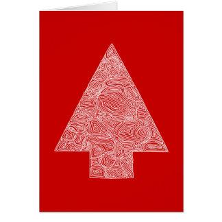 Red Tree Christmas Card