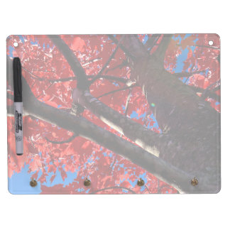 Red Tree Dry Erase Board With Keychain Holder