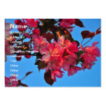 Red tree flowers business card templates