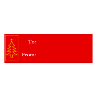Red Tree Gift Tag Business Card