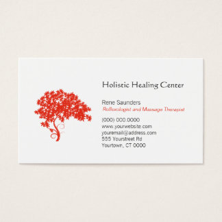 Red Tree Holistic And Natural Healing Business Card
