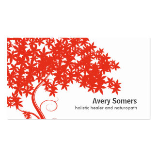 Red Tree Holistic Healer Naturopath Business Card Pack Of Standard Business Cards