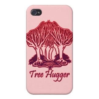 Red Tree Hugger Nature Trees Environment iPhone 4 Case
