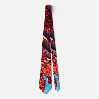Red Tree in Autumn Tie