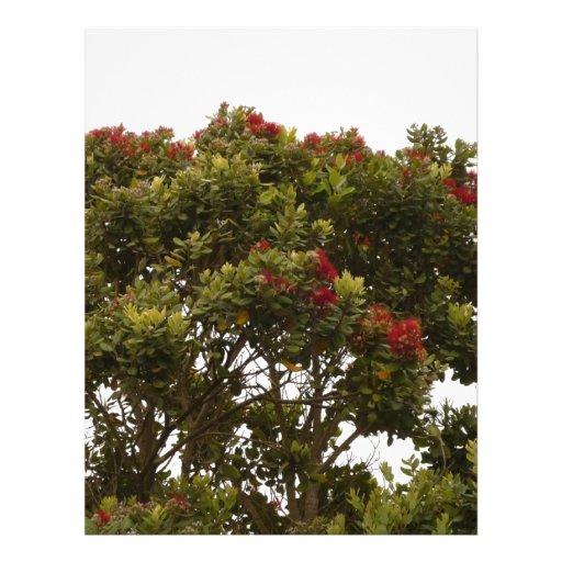 red tree in california letterhead design