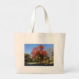 Red Tree Large Tote Bag