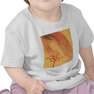 Red Tree Minimalist Painting Art Gear Shirt