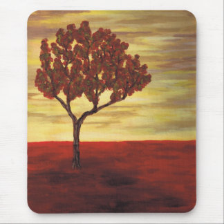 Red Tree Mouse Pad