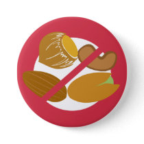 Red Tree Nut Free Nut Allergy Kids Pinback Button