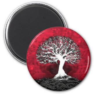 Red Tree of Life Refrigerator Magnet