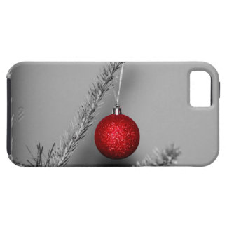 Red tree ornament iPhone 5 covers