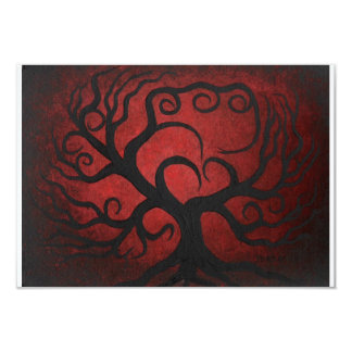 Red tree, RSVP card