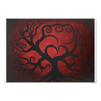 Red tree, RSVP card Custom Invitations