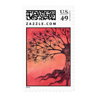 red tree stamps