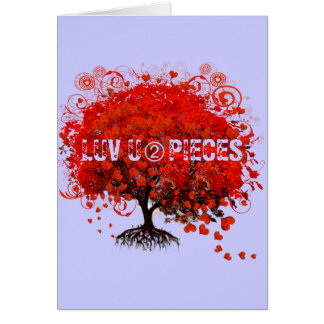 Red Tree Wedding T-Shirts, Gifts, Stickers & Favor Greeting Card