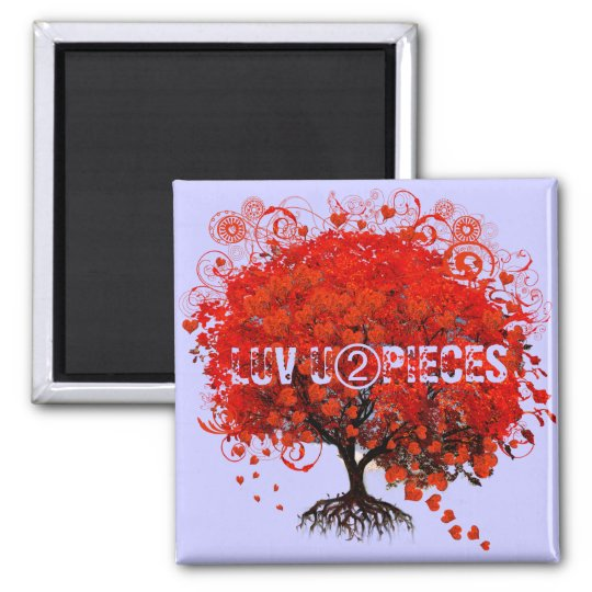 Red Tree Wedding T-Shirts, Gifts, Stickers & Favor Magnet