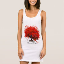 Red Tree Wedding T-Shirts, Gifts, Stickers & Favor Sleeveless Dress