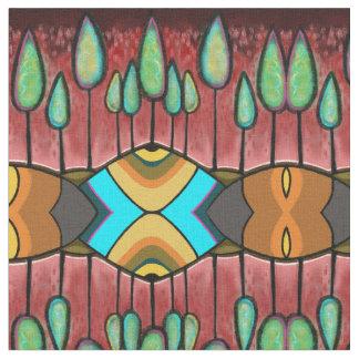 Red Trees, Fabric, Craft Supplies, Fashion, Art, Fabric