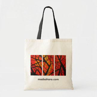 Red Trees Triptych Tote