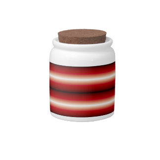 Red trendy line pattern candy jars