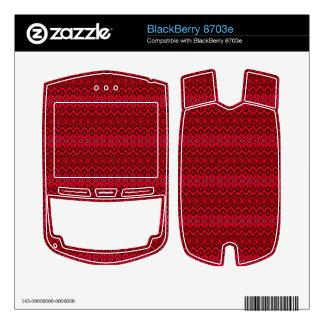Red trendy pattern BlackBerry decals