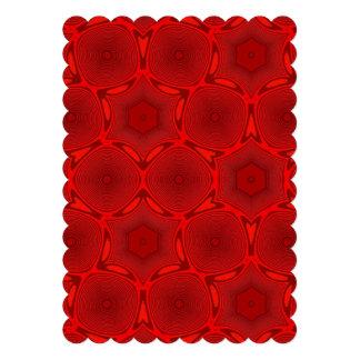 Red trendy pattern custom announcement