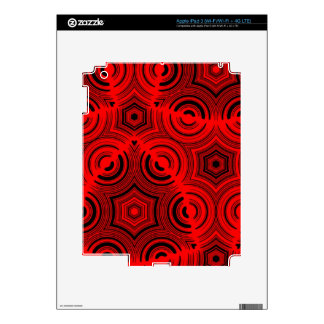 Red Trendy pattern Skins For iPad 3