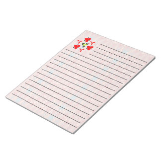 Red trendy  unique pattern notepad