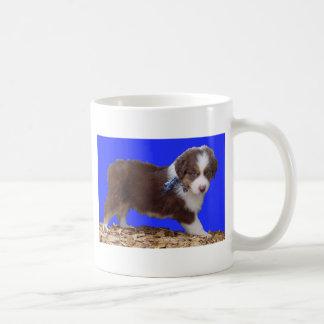 Red Tri Aussie Puppy Coffee Mug